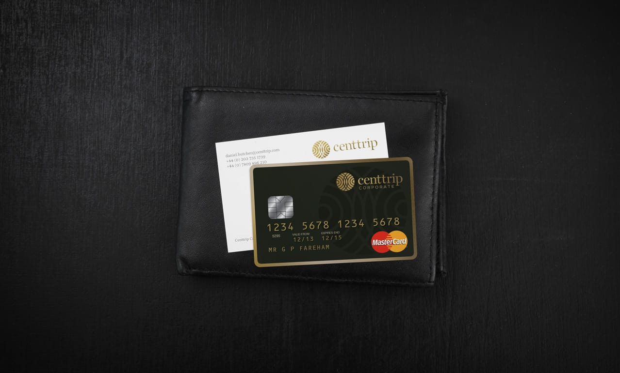 Logo design and branding - credit card design for Centtrip payment cards