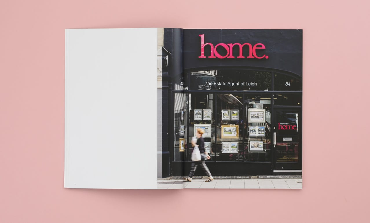 Brochure design for Home Estate Agents, Leigh on Sea