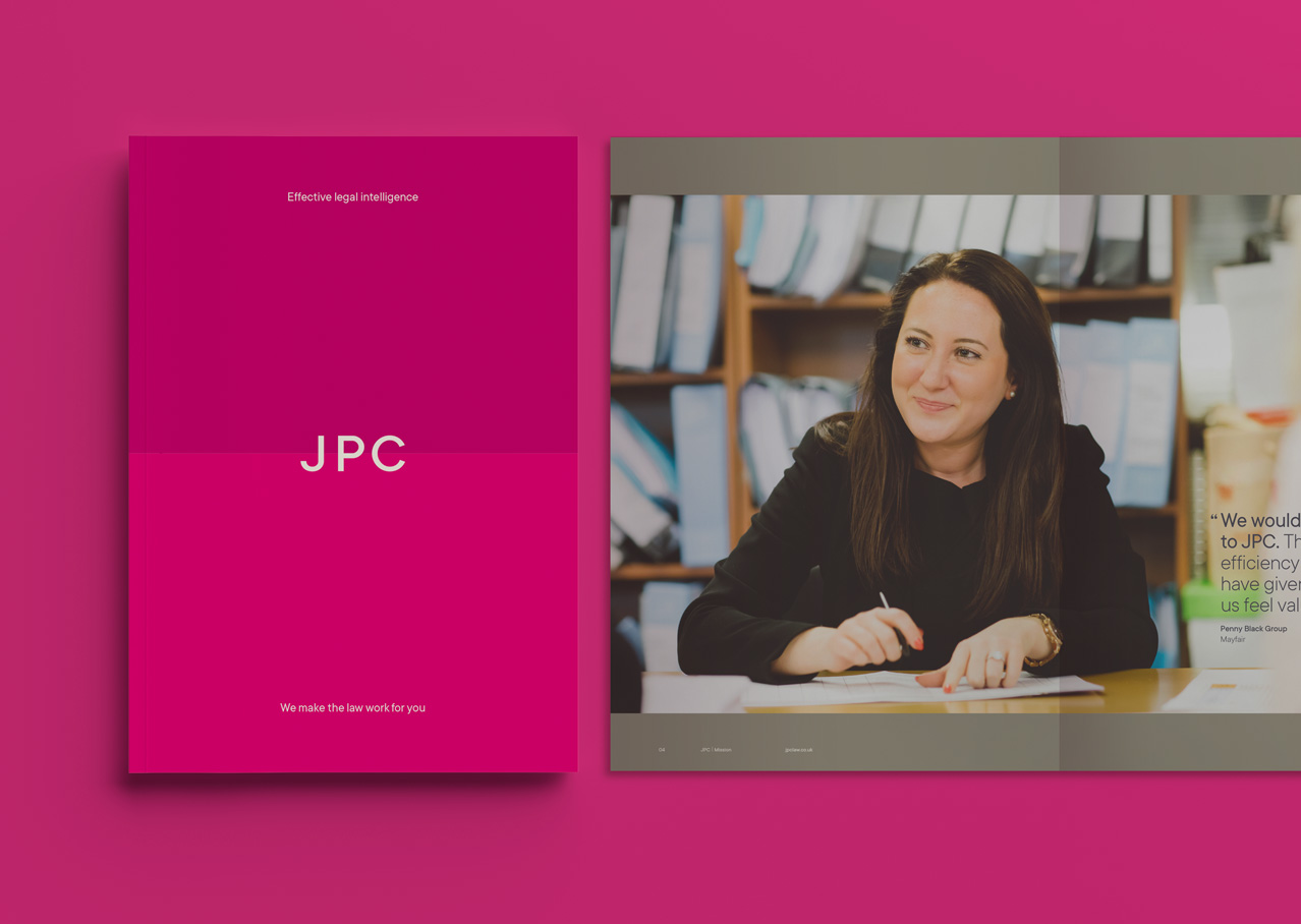 JPC Brochure front and spread design