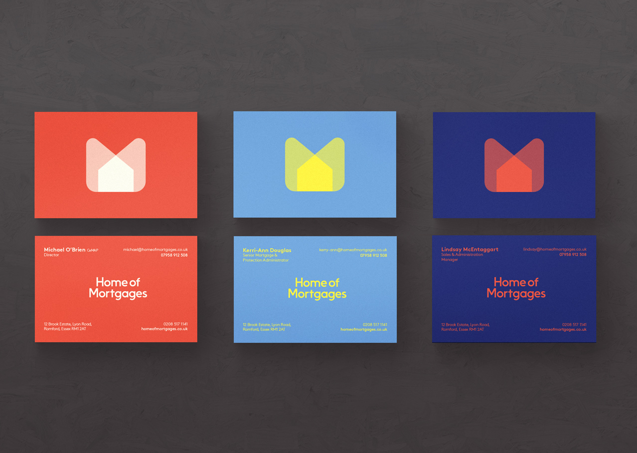 Home of mortgages business cards