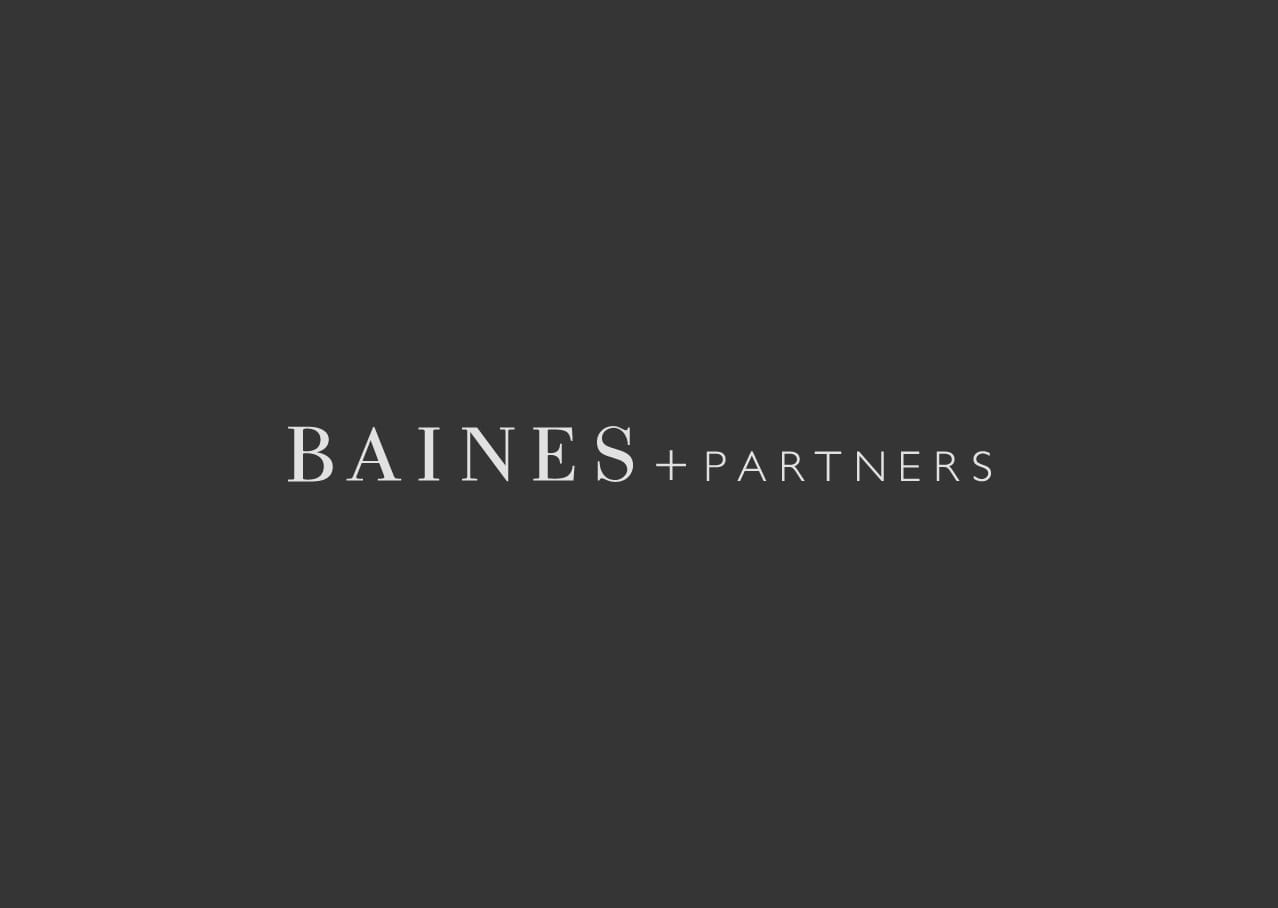 Baines and partners branding and logo design
