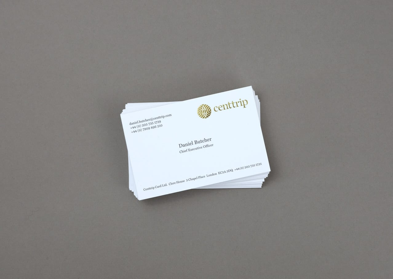 Business card graphic design for Centtrip