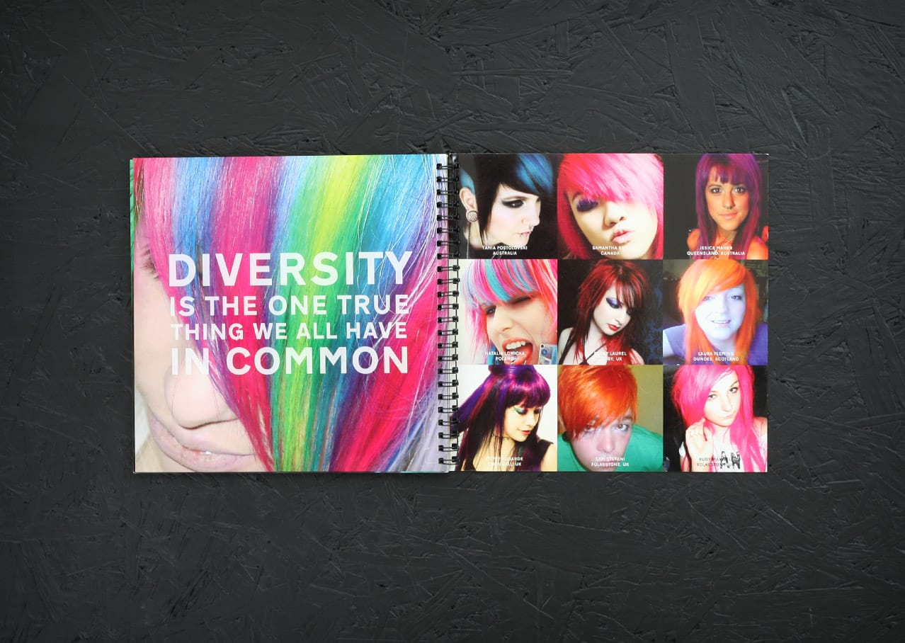 Graphic design and brochure design for Directions Hair Colour