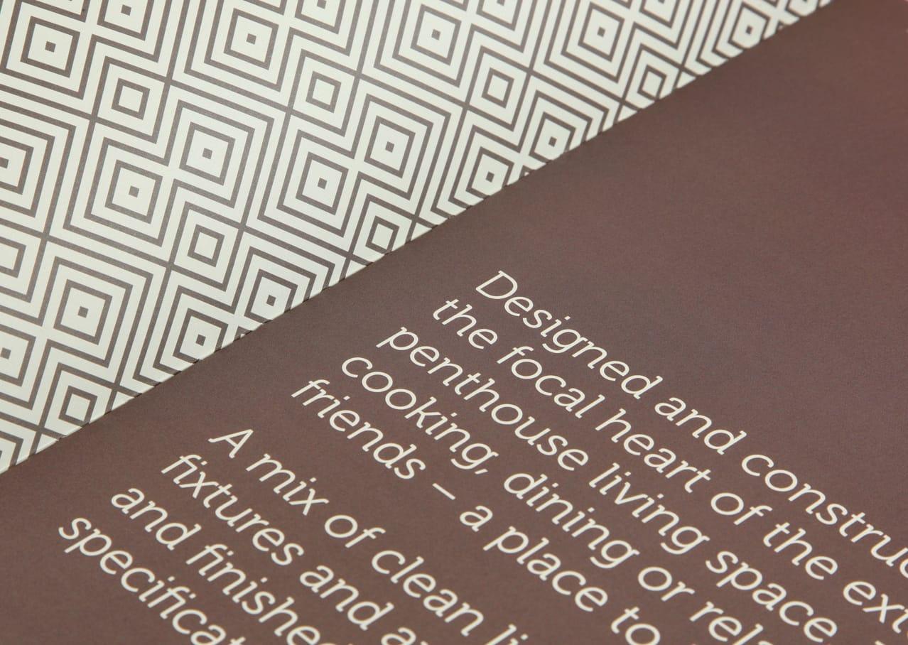 Eden Point Penthouse Brochure Cover – Plike & Copper Foil
