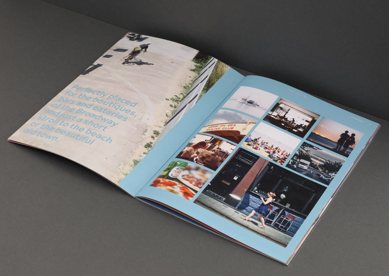 Page layout, copywriting and graphic design for Grand View, Leigh on Sea