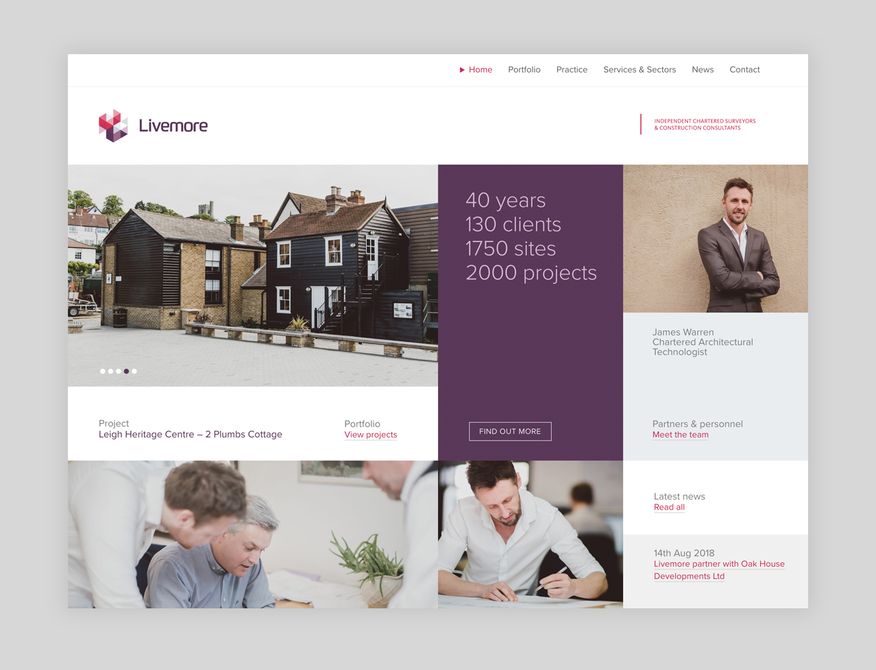 Livemore Website design