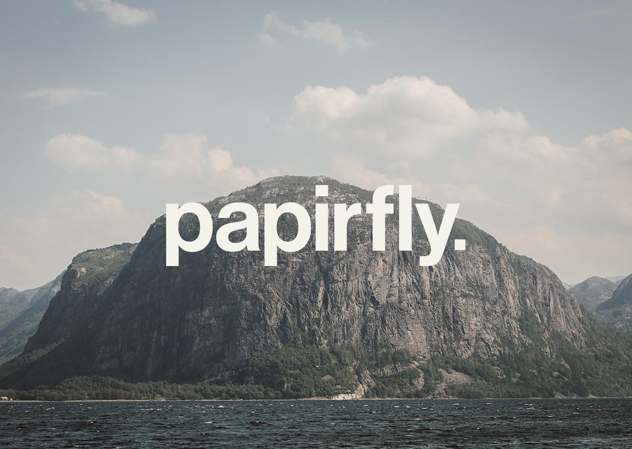 Papirfly branding