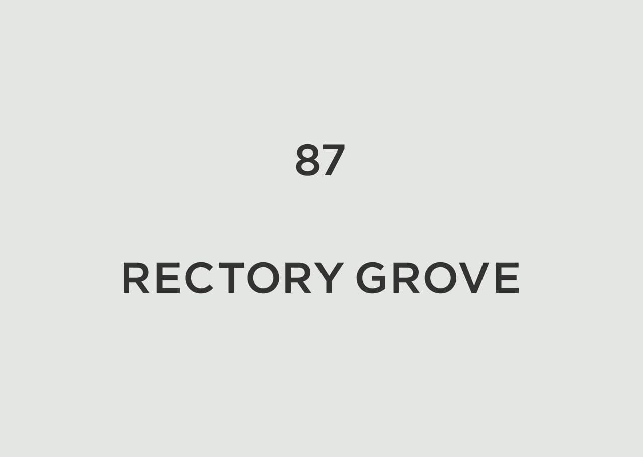 Rectory Grove logo design and branding