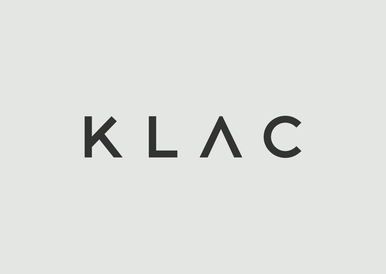 KLAC logo design and branding