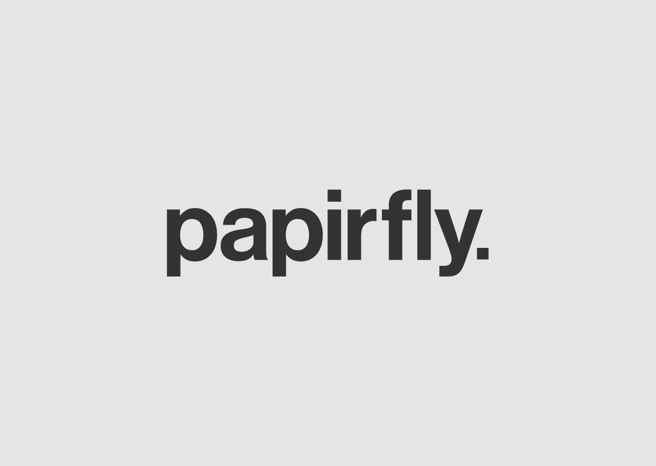 Papirfly logo design and branding