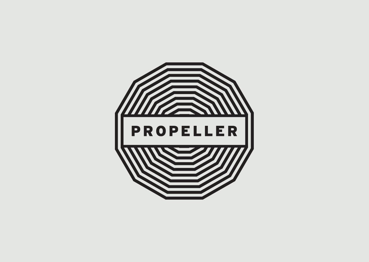 Propeller Artists logo design and branding