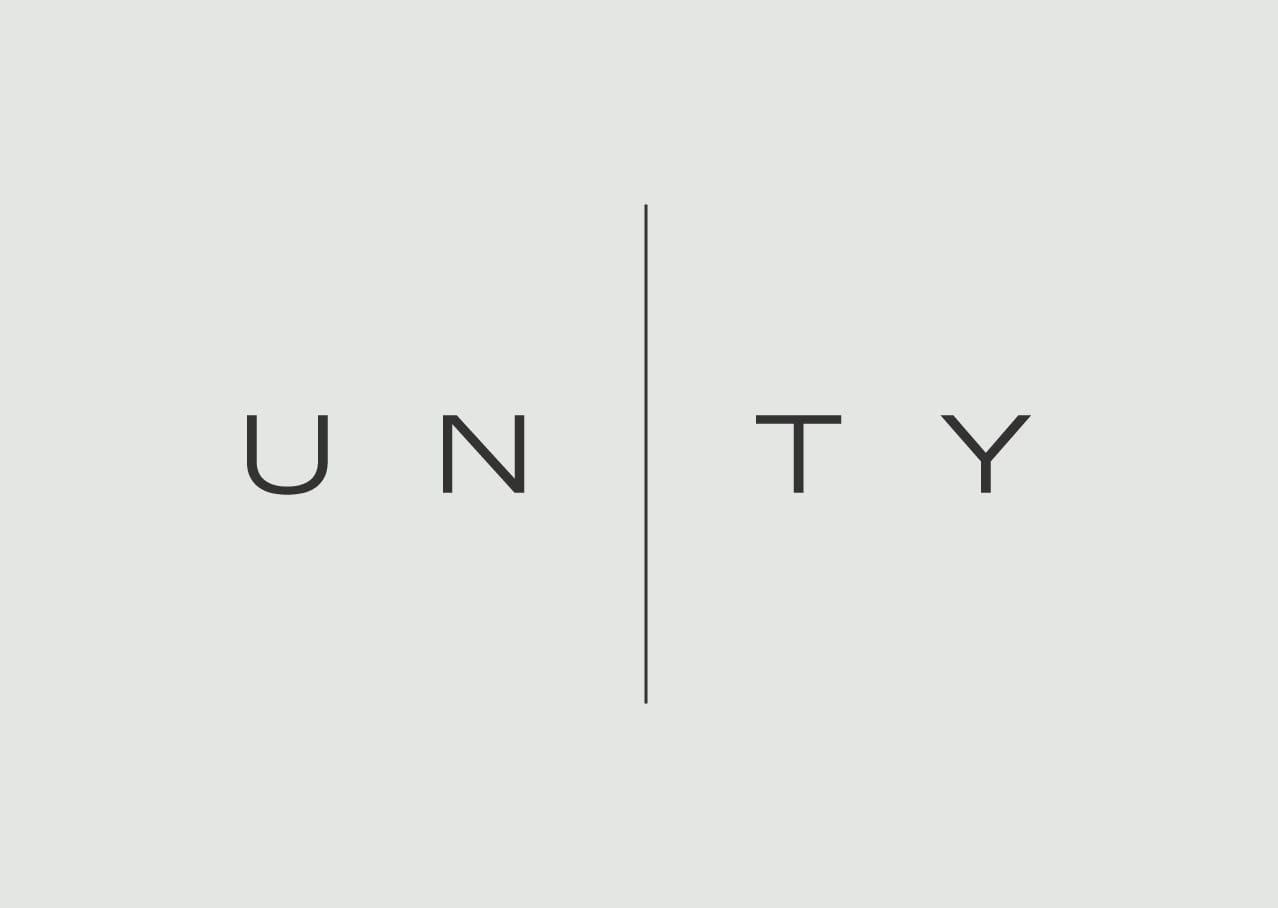 Unity logo design and branding