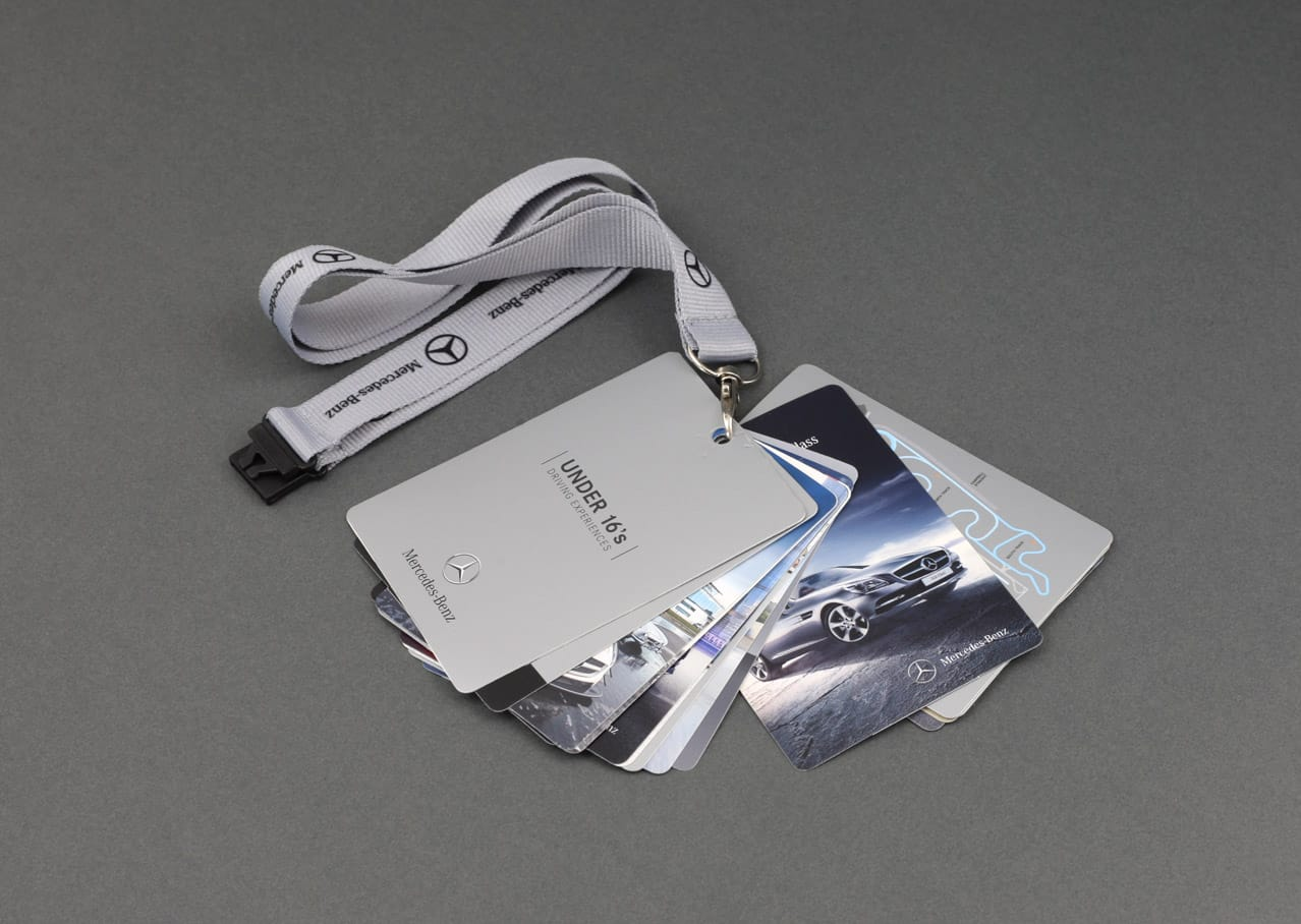 Graphic design and product design for Mercedes-Benz World