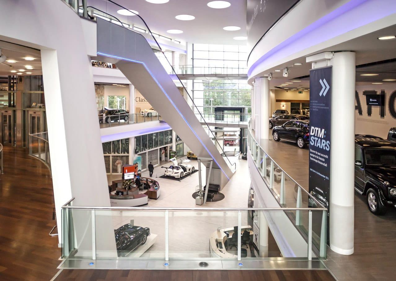 Graphic design and exhibition design for Mercedes-Benz World