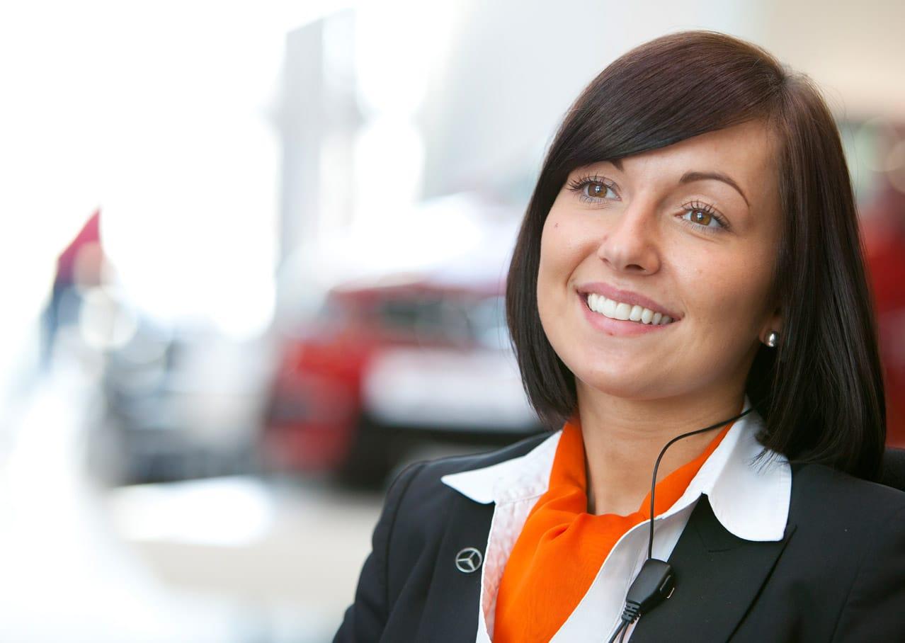 Employee at Mercedes-Benz World