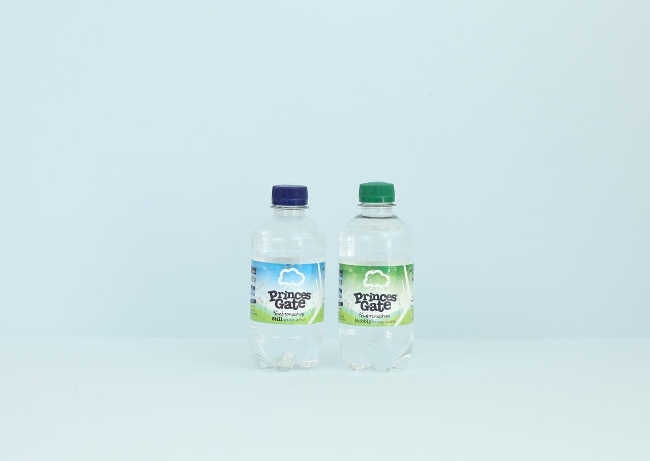 Princes Gate Spring Water packaging design