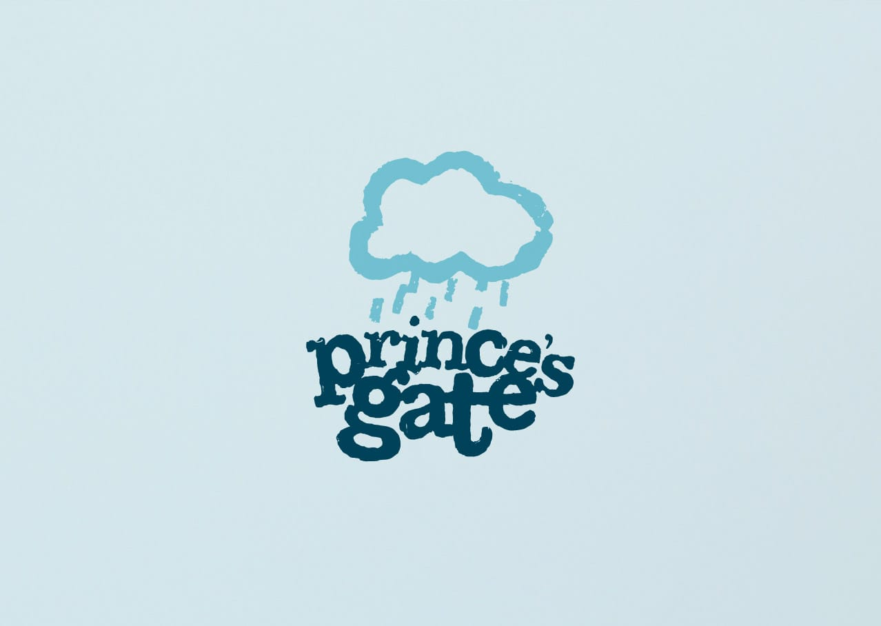 Princes Gate Spring Water branding - logo design