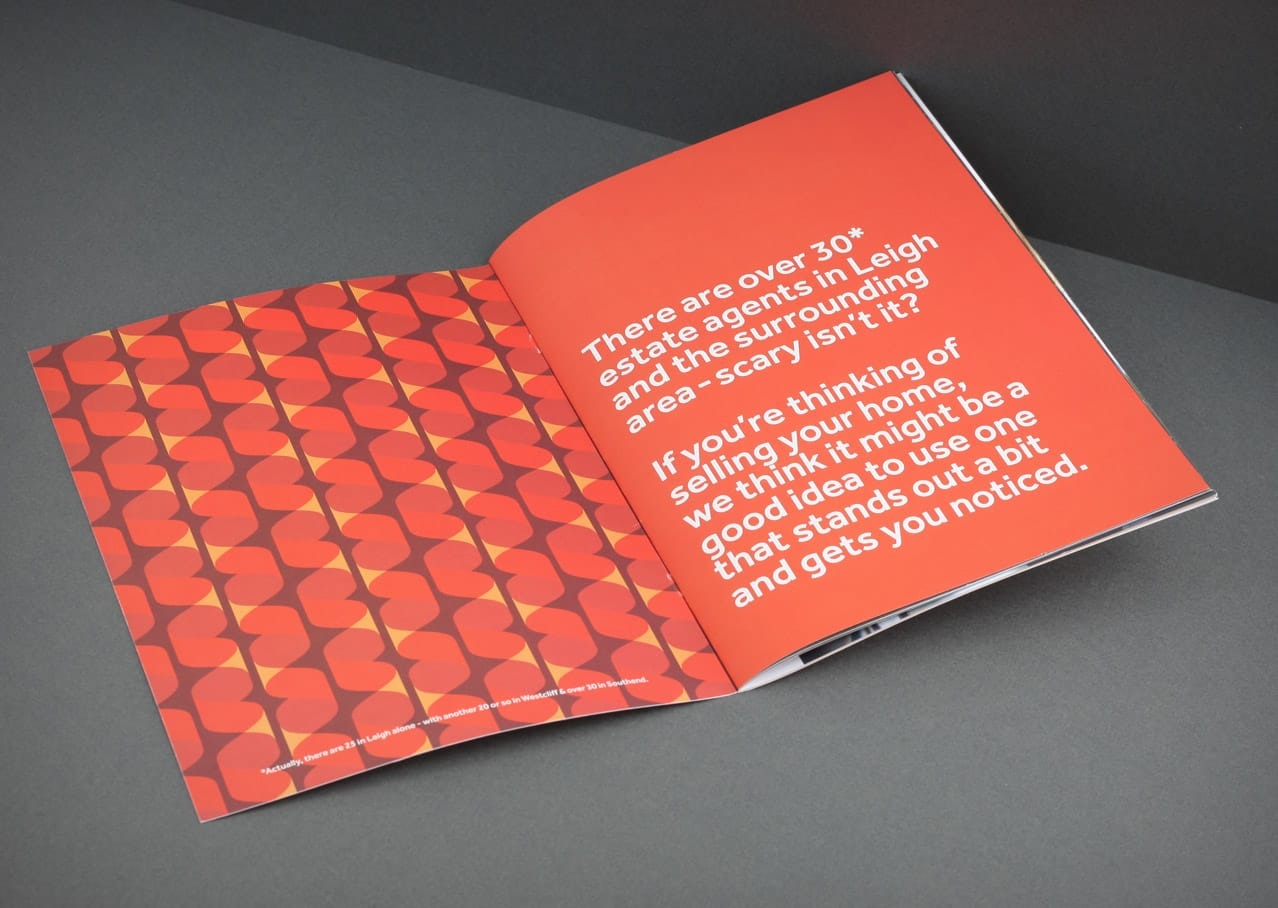 Copywriting, typography, graphic design from the brochure for Scott and Stapleton