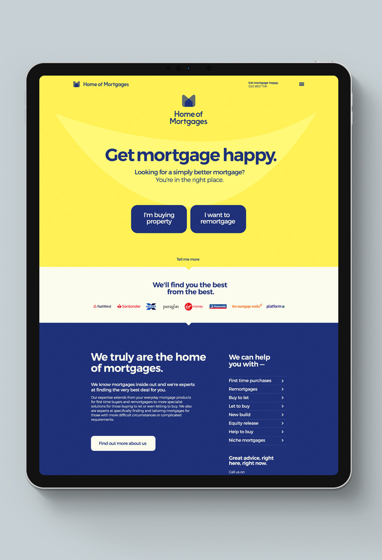 Home of Mortgages Web design
