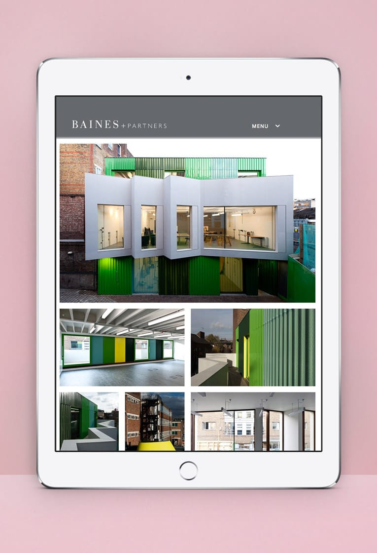 Baines branding and web design