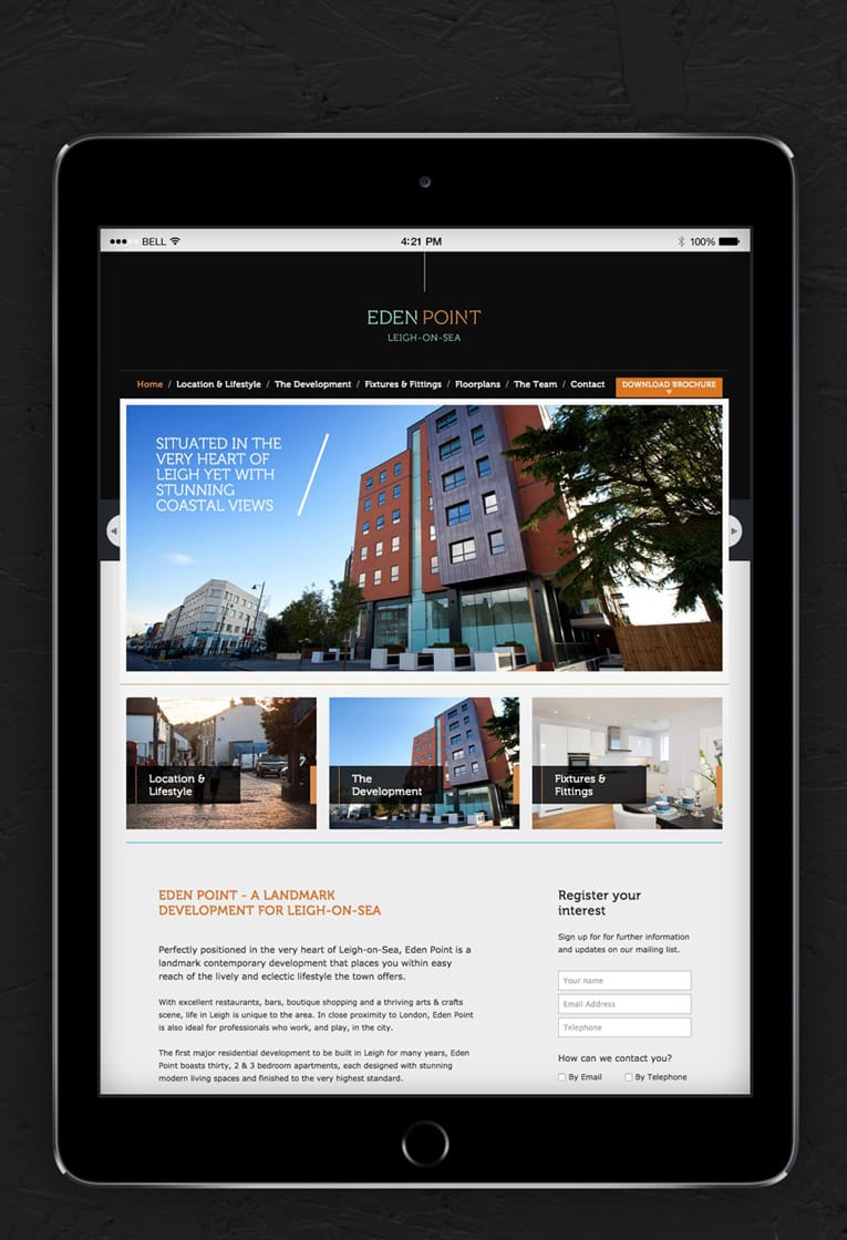 Web design for Eden Point, Leigh on Sea
