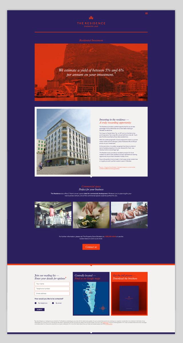 Residence website design